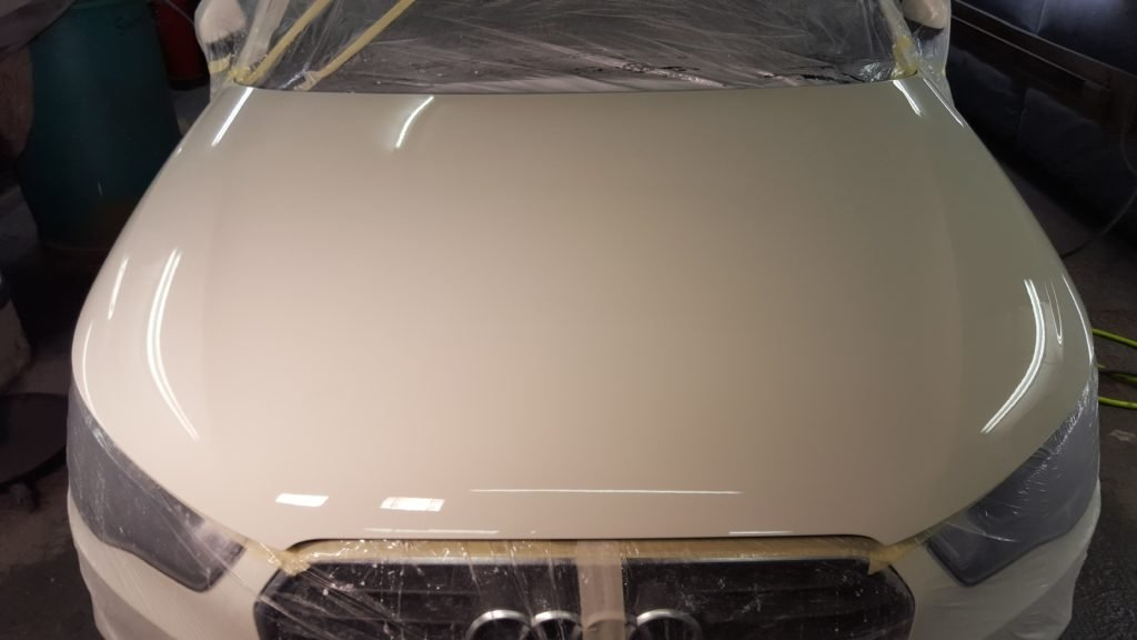 Audi A1 bonnet respray in white