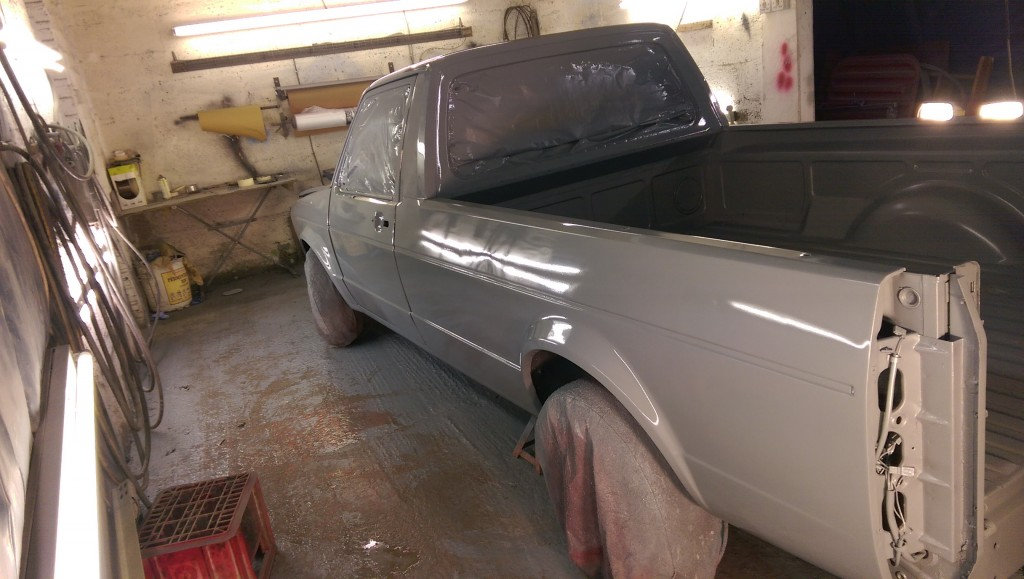 Freshly sprayed caddy