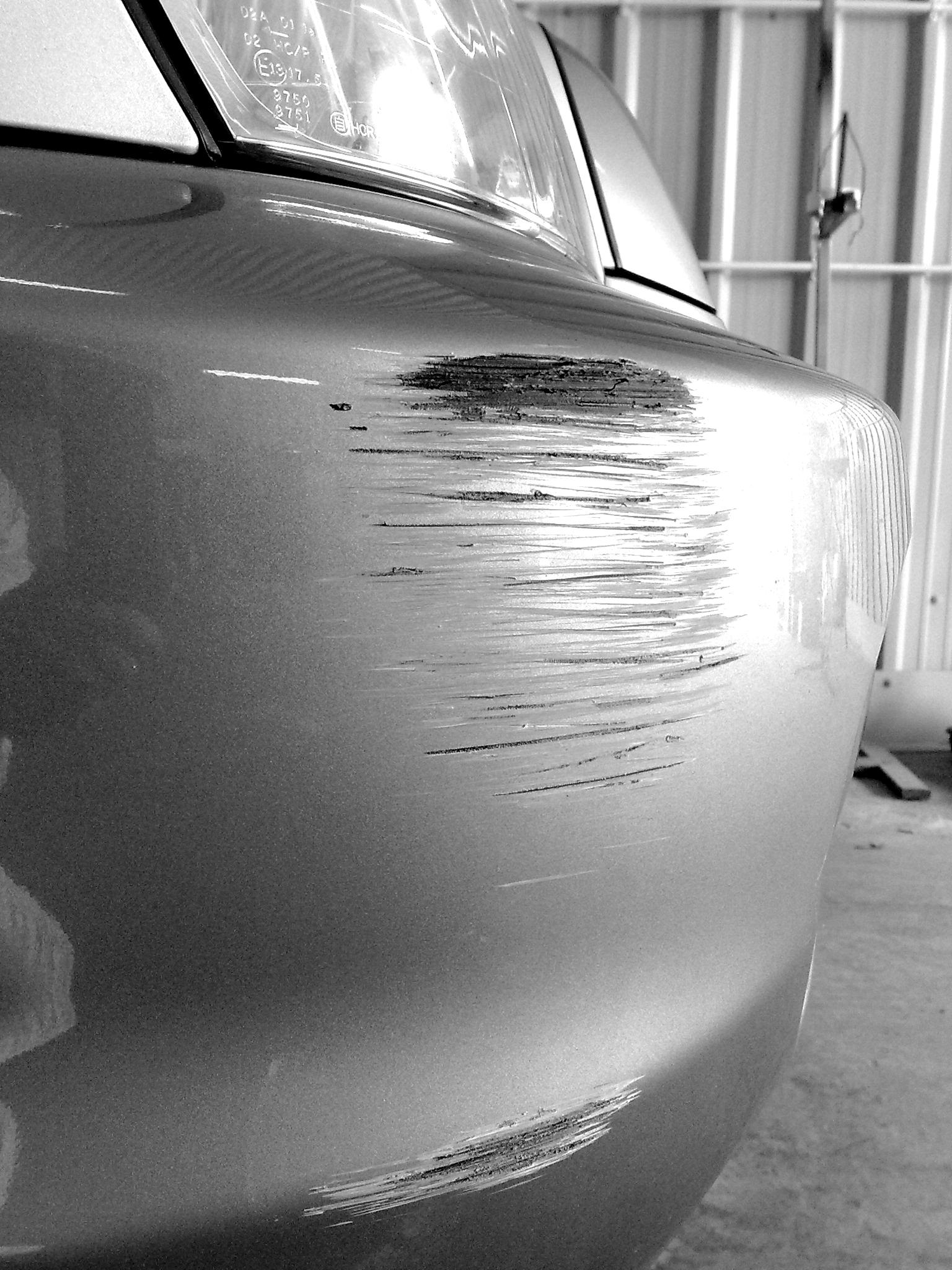 Bumper scuff and scratches