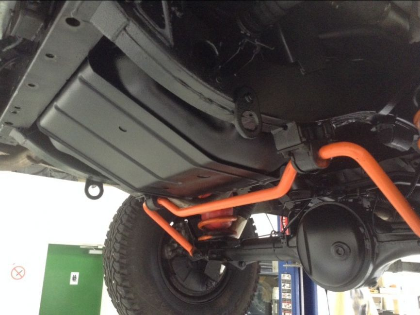 Completed wax oil underbody treatment